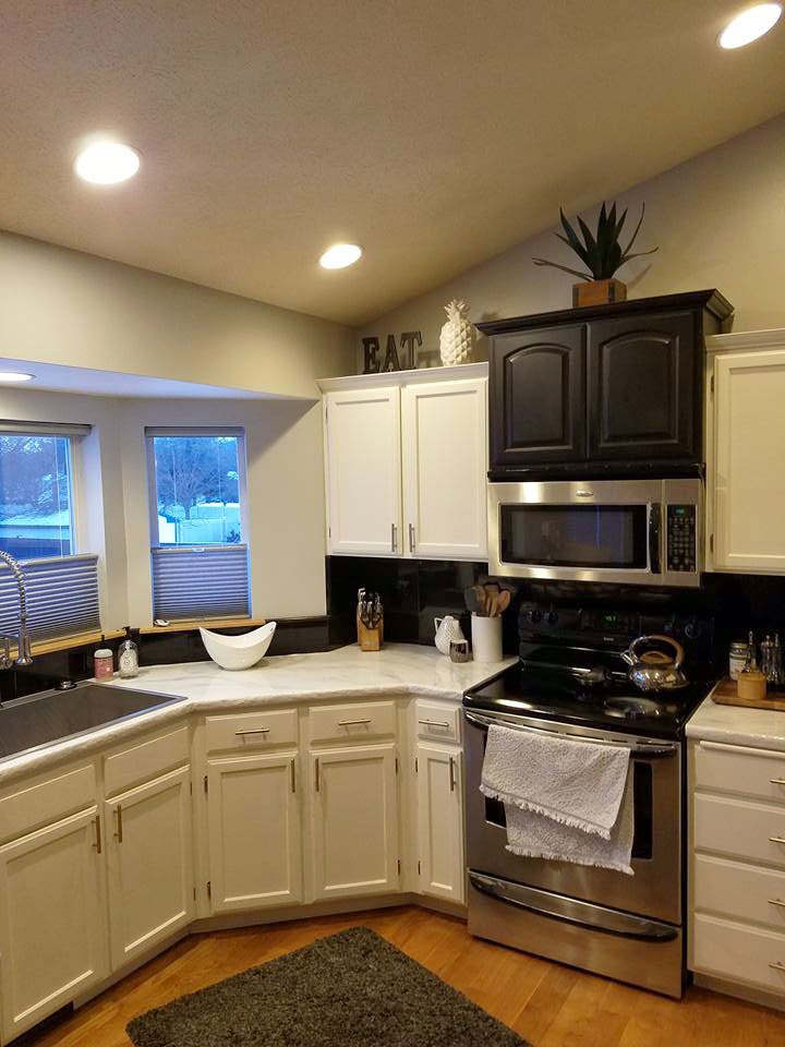 It is amazing what a fresh coat of paint can do to brighten up and give your kitchen a whole new look. The simplest updates can make all the difference.